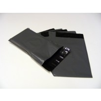 """12"""" x 16"""" Tri-ex Grey Outer / Black Inner Polythene Plastic Mailing Bags"""