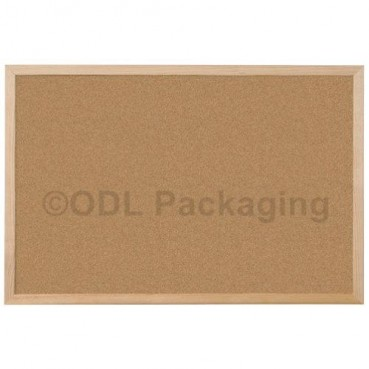 Cork Covered Notice Pin Boards Wooden Frame 900 x 600mm