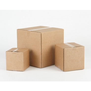 "Cardboard Packing Boxes 6"" Cube 152 x 152 x 152mm"