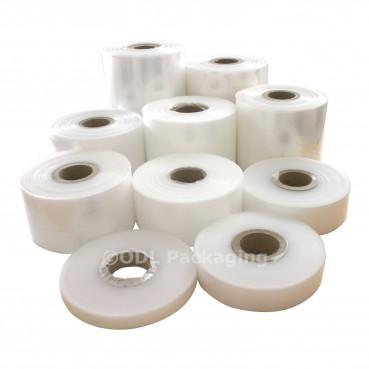"Clear Rolls of Polythene Plastic Lay Flat Tubing 120, 250, 500 & 1000 Gauge - 4"""