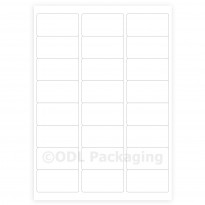 White Address Labels 24 per A4 Sheet Laser / Inkjet
