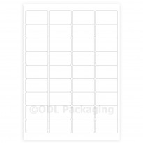 White Address Labels 36 per A4 Sheet Laser / Inkjet