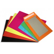 "Coloured C5 A5 Board Backed Envelopes 9"" X 6.5"""