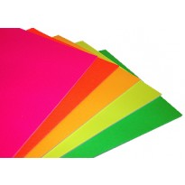 A4 Fluorescent Coloured Card 240gsm