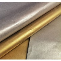"Single Sided Metallic Gold & Silver Tissue Paper 500mm x 750mm (20"" x 30"") 18GSM"
