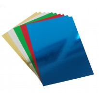 A4 Mirror Coloured Card 220gsm