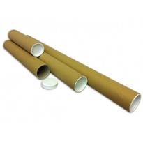 Royal Mail Size Strong Cardboard Postal Tubes A2 447mm x 44.5mm