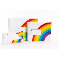 "Printed Rainbow Mailing Bags 10"" x 14"" 250mm x 350mm"