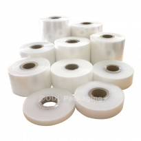 "Clear Rolls of Polythene Plastic Lay Flat Tubing 500 Gauge - 26"""
