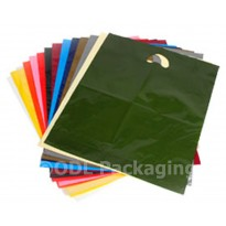 "Clear Strong Quality Carrier Bags Varigauge 10"" x 14"" + 4"""