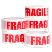 "Worthminster 2"" Printed Fragile Packaging Tape x 66M Low Noise"